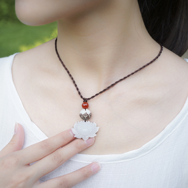 DIY Ethnic Jewelry double lotus ethnic choker necklace ...