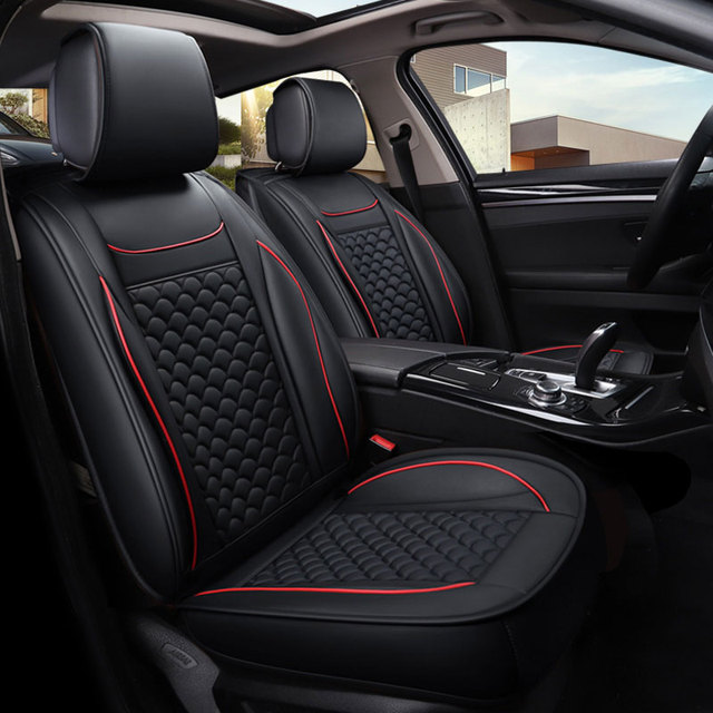 Leather Car Seat Covers Protector Auto Cushion For Toyota Prius 20 30 Highlander Rav 4
