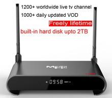 1pcs H2 Rockchip RK3229 Quad core Smart Android7.1 LIVE TV Streaming Box 2GB DDR 16GB ROM MediaHub 1200+ live tv 1000+ VOD