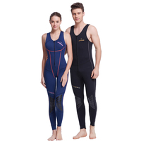 Free Shipping 2017 Dive Sail 1MM Neoprene SCR One Piece No Sleeved Diving Wetsuit For Men