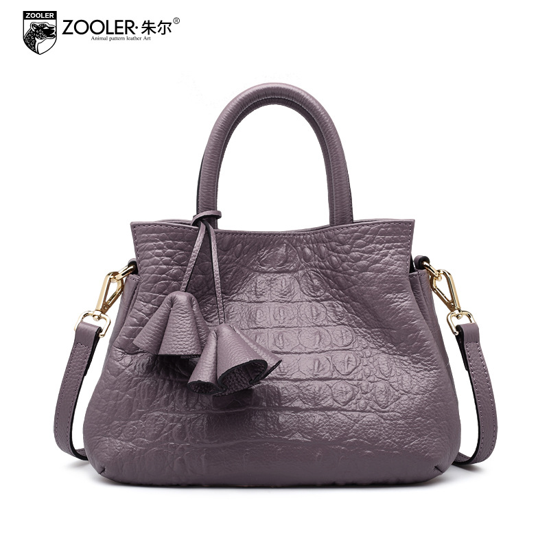ZOOLER Fashion Genuine Leather Handbag Women Crocodile Pattern Portable Small Shoulder Bag Ladies Messenger Bags Female Tote Bag 2017 fashion all match retro split leather women bag top grade small shoulder bags multilayer mini chain women messenger bags