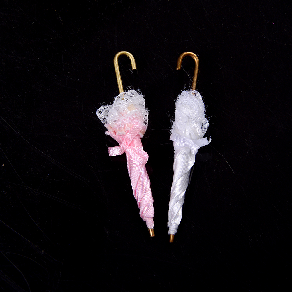 Miniature Lady Parasol Lace Umbrella Dollhouse Decor Birthday Gift Girl Kids Toys Dollhouse Furniture Mini Royal Lady