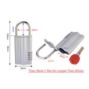 Image 3 - High Quality Key Safe Box With 4 digital Password Lock Hidden Spare Key Safe Storage Organizer Box For Home Office Carvan Villa