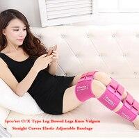 Bow O X Type Leg Posture Corrector Belt Easy Curves Elastic Adjustable Bandage Thigh Legs Belt