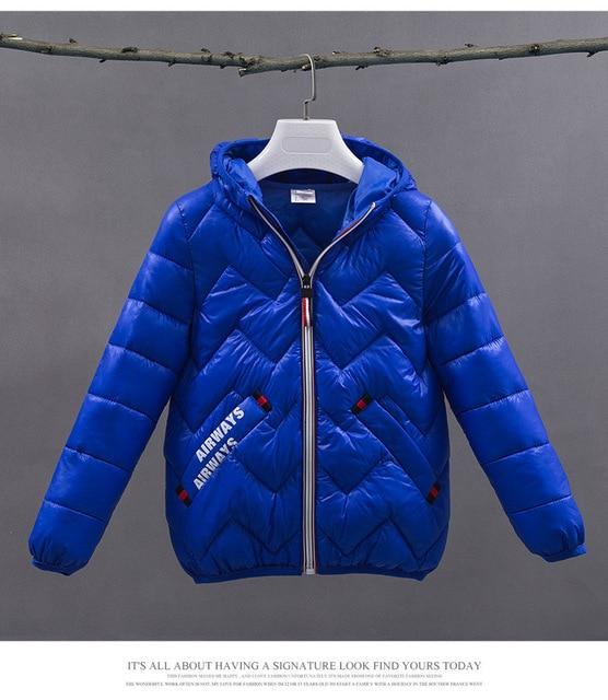 c2e1c4def Boys Girls Winter Coats Outerwear Fashion Hooded Parkas children s ...