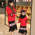 Unique design high quality tassel mother daughter dresses clothes outwear new arrival fashion family matching outfits clothing
