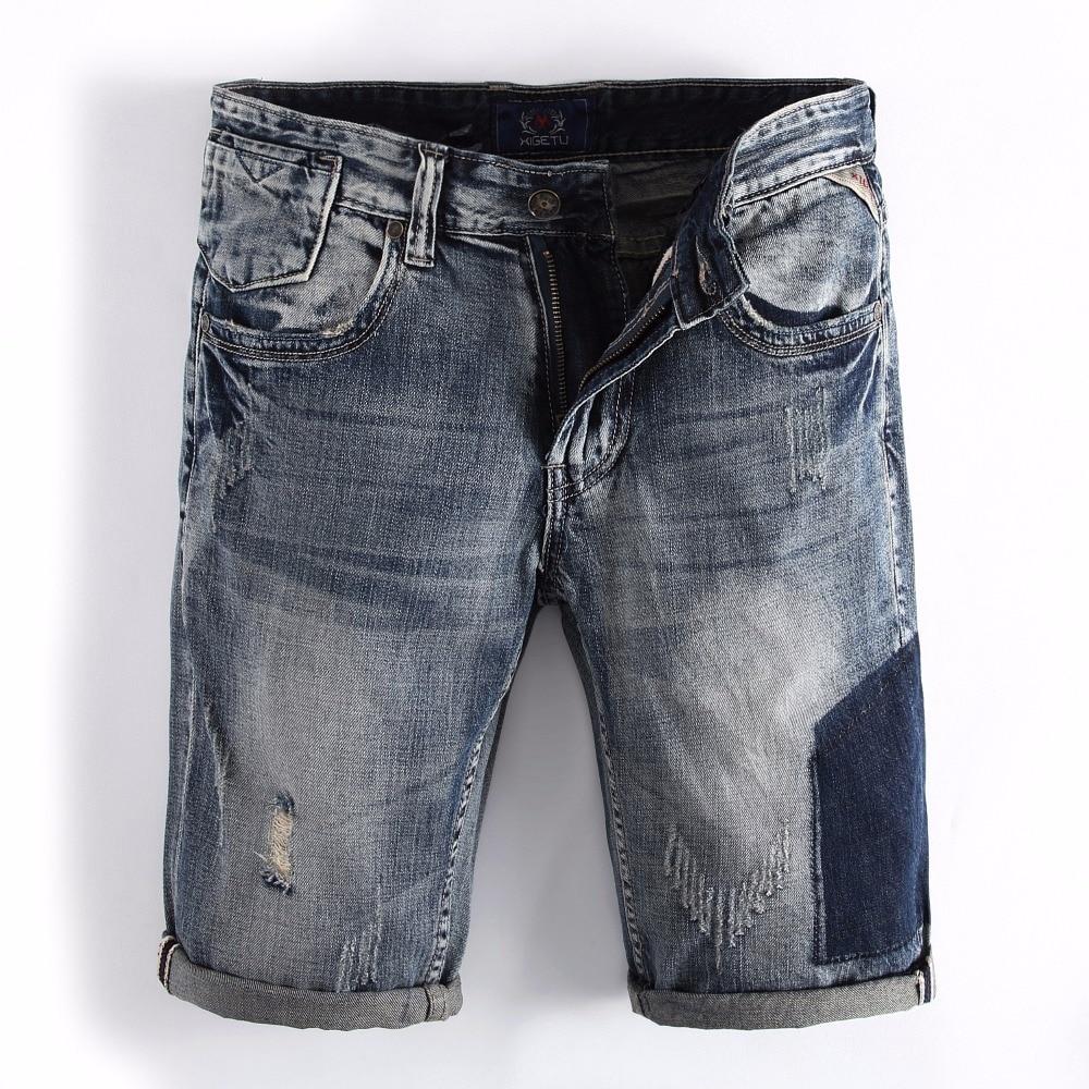 2017 Summer Style Fashion Mens Jeans Shorts High Quality Navy Blue Color Denim Shorts Men Brand Camouflage Short Jeans! high quality 2016 summer men plus short jeans men s fashion shorts men big sale summer clothes brand homme short pants