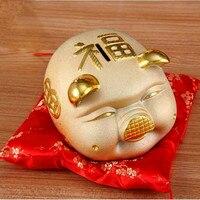 Golden pig piggy bank piggy bank, oversized children's birthday presents cute creative crafts