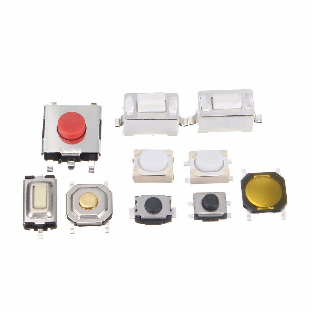 New high-quality tactile button switch 250Pcs 10 types of remote control button micro switch TV, audio equipment, VCR switch new original ifs204 door proximity switch high quality