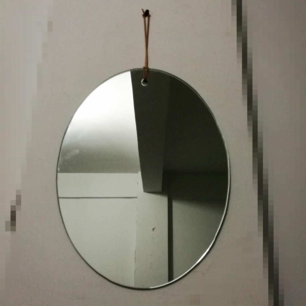 Wall Mirror Bathroom Mirror Easy Hanging Living Room Mirror Oval