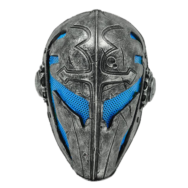 Paintball party mask Airsoft face mask Wire Mesh Templar Fabric Plastic Mask (Blue)  ABS material outdoor green paintball airsoft wire mesh full face protection templar mask cosplay wargame gear helmet free shipping