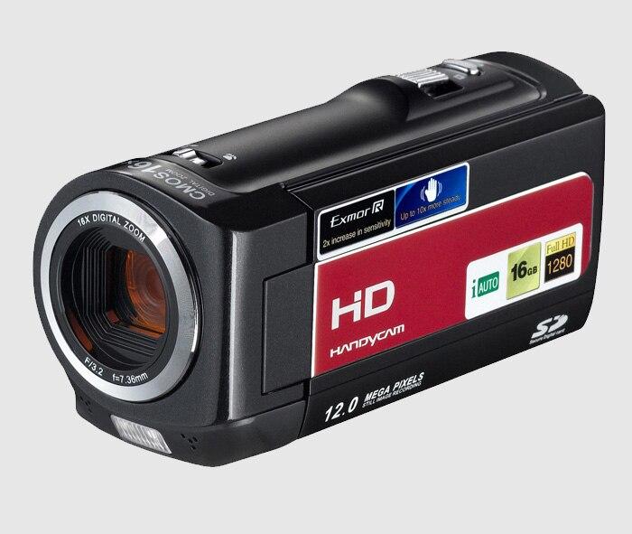 Free Shipping 720P(HD) digital video camera with 5.0 Mega pixels CMOS sensor  16X digital zoom 16mp max digital video camera with 16x digital zoom 5mp cmos sensor 720p hd lithium battery free shipping