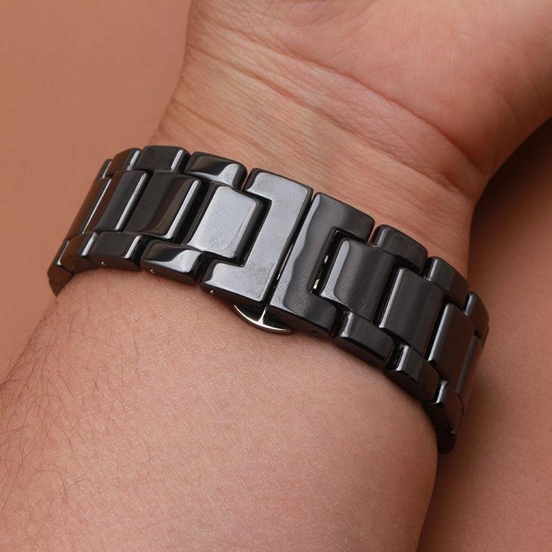 Matte Sort Armbåndsur av keramiske eller polerte klokker for smarte - Tilbehør klokker - Bilde 5