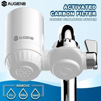 キッチンタップ蛇口水フィルター清浄機-活性炭洗えるセラミックパーコレーター削減塩素、臭気、汚染物質