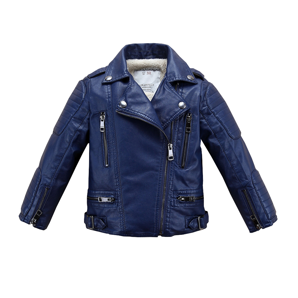 High Quality Boy Faux Leather Jacket 2017 Infants Thick Warm Coat Children Fashion Coats Girls Outerwear Baby Clothing Jackets