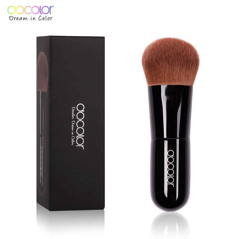 Docolor Kabuki Brush Mjukt bukt Bristles foundation Power Brush Make up borstar för skönhet Essential Makeup Tool