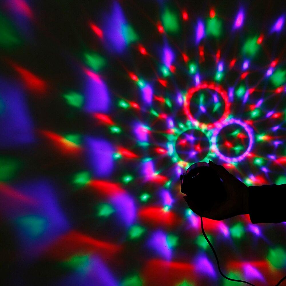 Yeni Sehrli Rəngli Kristal Sehrli Top 3W Mini RGB Mərhələ - Ticarət işıqlandırması - Fotoqrafiya 6