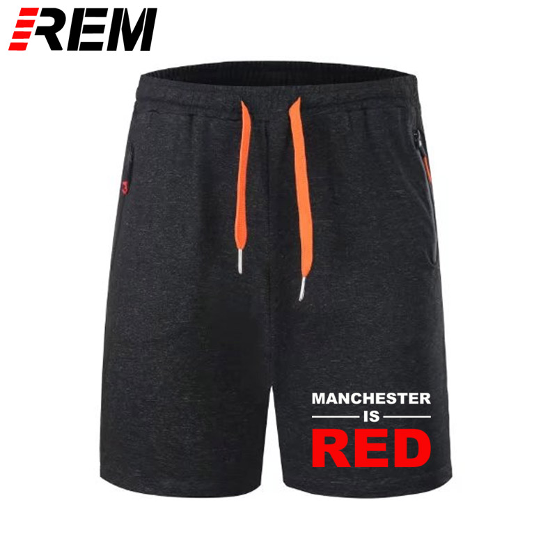 REM Style United Kingdom Red Letter Printed Short Pants Men Cotton Manchester Scanties Panties Breechcloth Camisa Masculina