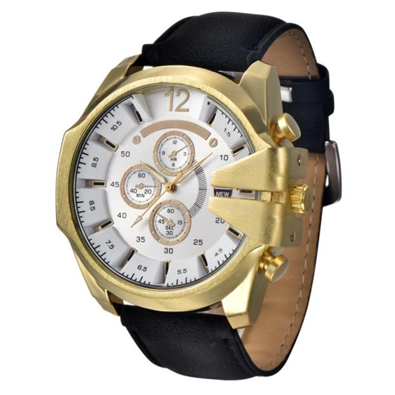 Quartz Watches Xinew Hot Mens Quartz Watches Waterproof Analog Steel Case Dial Synthetic Leather Wrist Sport Watch Gift Relogio Masculino With Traditional Methods Watches
