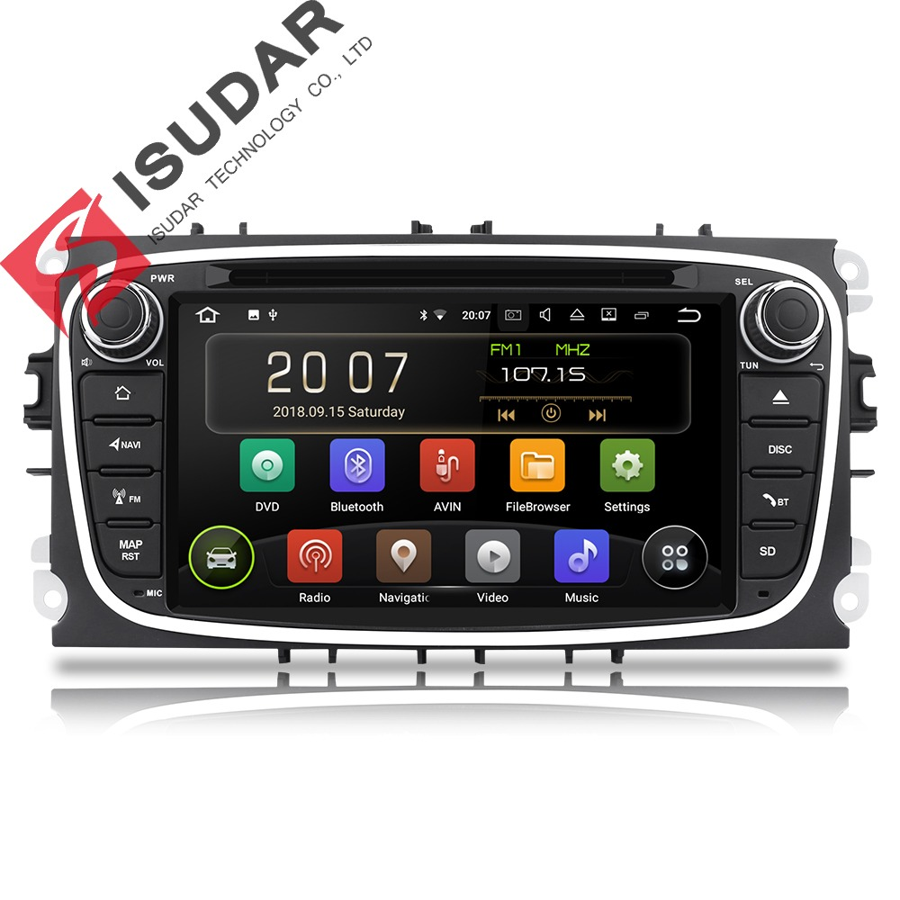 Eunavi 2 din Android 8 1 Octa Core Car DVD Player GPS Navi for Ford