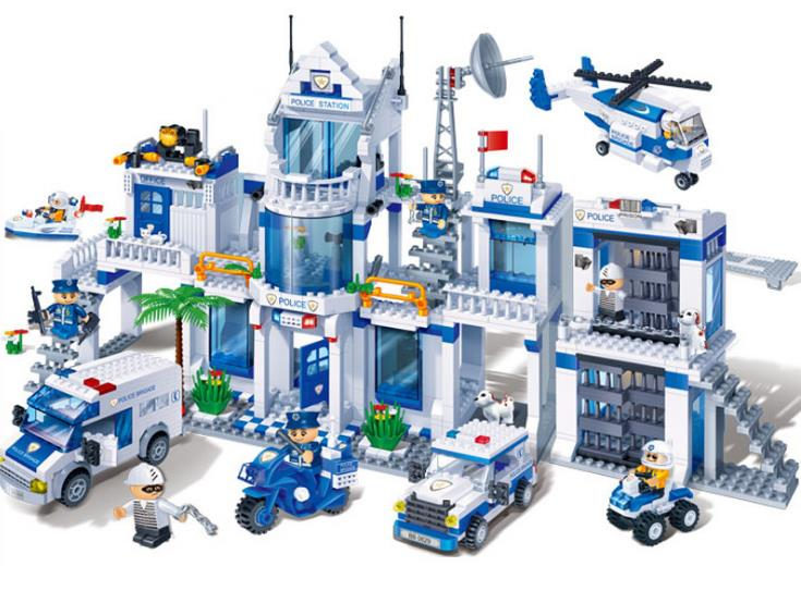 banbao 8353 1285Pcs City Series Extra Large Police Station Building Blocks kids DIY Educational Bricks Toys gift for children 407pcs sets city police station building blocks bricks educational boys diy toys birthday brinquedos christmas gift toy