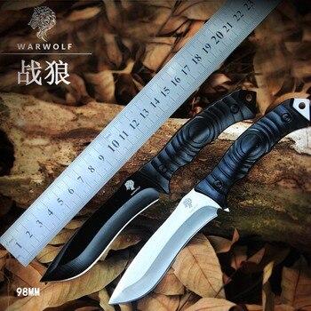 Wysokiej jakości armii nóż survivalowy wysokiej twardości sztuki noże podstawowym samoobrony nóż turystyczny polowanie na zewnątrz narzędzia EDC
