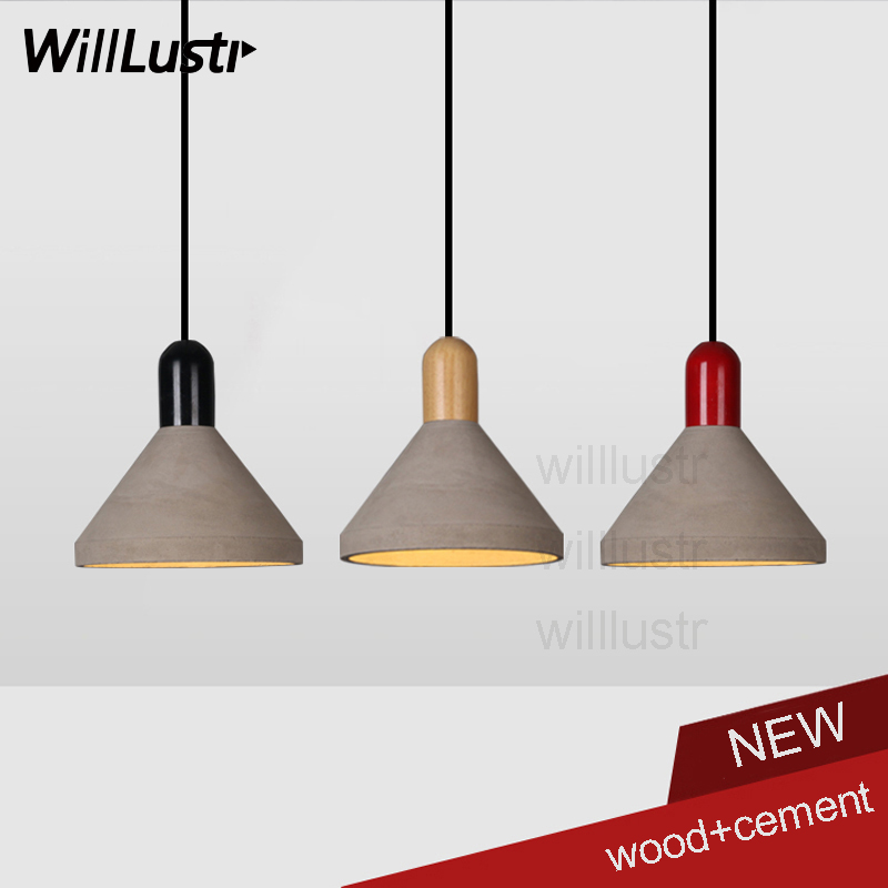 Willlustr cement suspension lighting dinning room living room wood cap concrete pendant light hotel restaurant hanging lamp willlustr concrete pendant light cement suspension lamp minimalist design nordic hanging lighting dinning room restaurant hotel