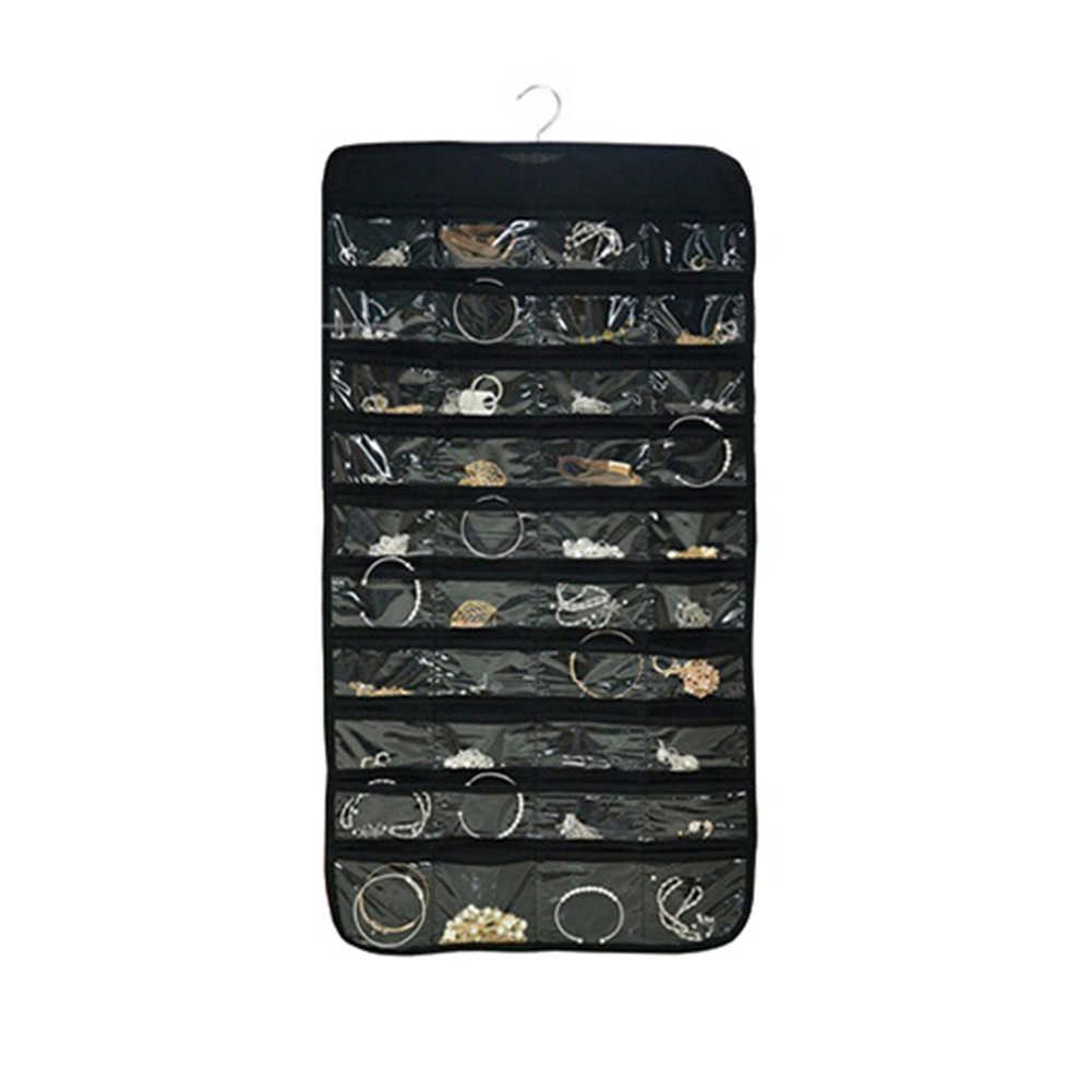 Organizador para presentación de joyas colgante de doble cara, bolsa para joyería, collar, pulsera, pendiente, bolsa para anillo, bolsas para exhibición de Joyas
