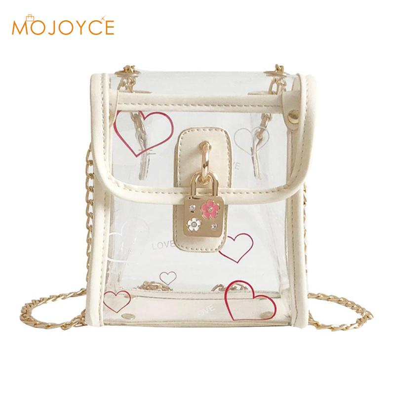 New Fashion Designer Women Mini Small Transparent Bag Clear PVC Laser Jelly Shoulder Messenger Bags Female 3 Style Shopping Bags
