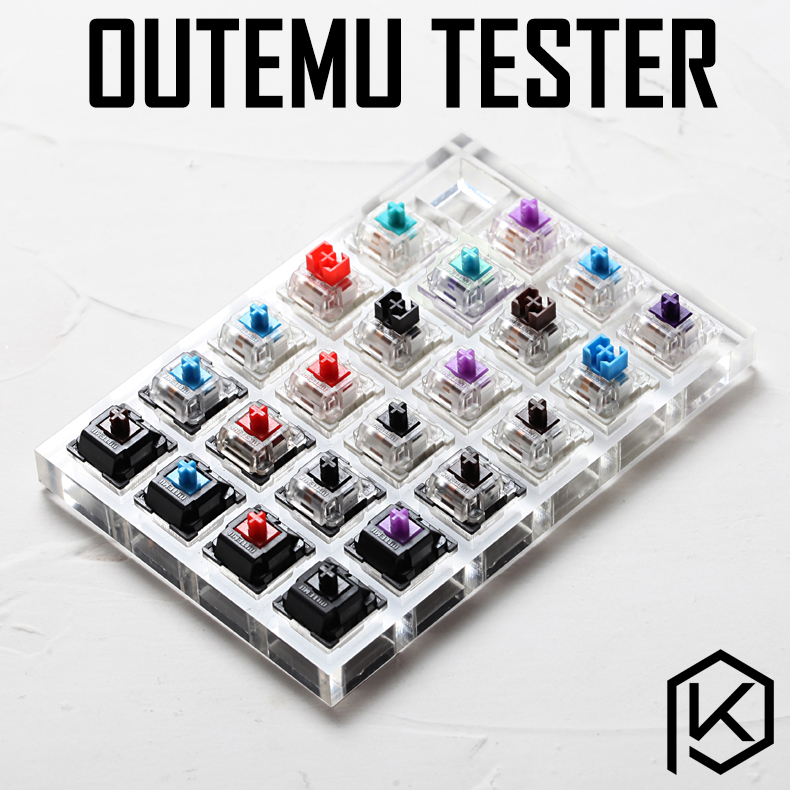 23 Switch Switches Tester With Acrylic Base Blank Keycaps For Mechanical Keyboard Outemu Rgb Smd  Otm Ice Clear