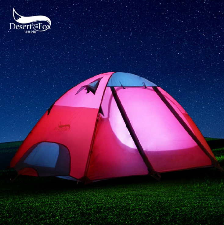 Professional Climbing tents Double layers bunk camping tent outdoor tent camping multiplayer anti storm Aluminum pole high quality outdoor 2 person camping tent double layer aluminum rod ultralight tent with snow skirt oneroad windsnow 2 plus