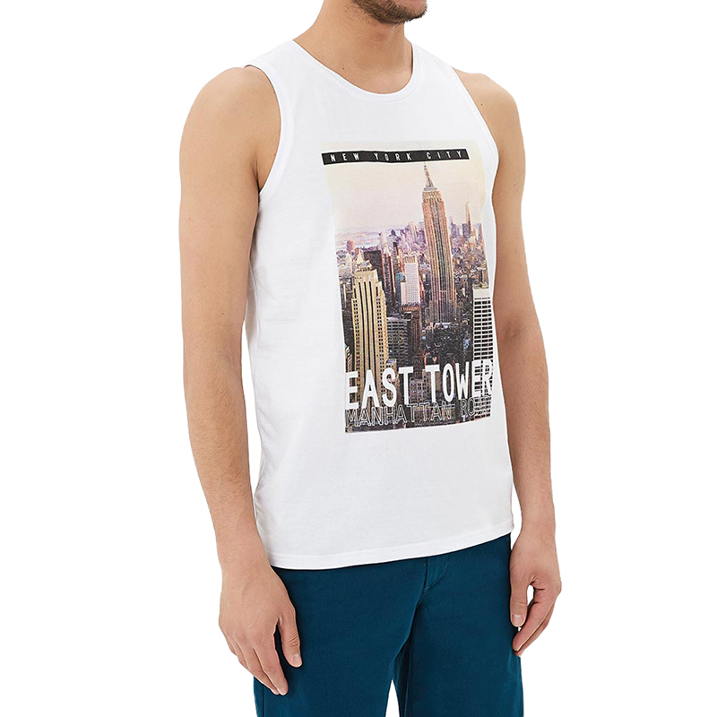 Tank Tops MODIS M181M00189 men t shirt top for male TmallFS men pocket front contrast panel t shirt