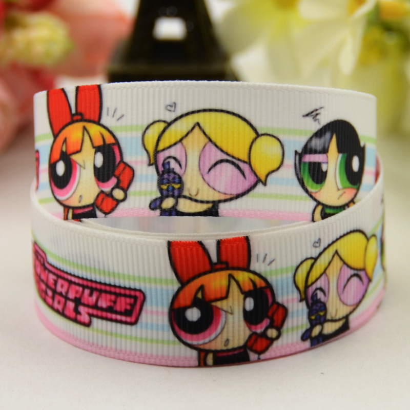 Power Puff Girls Character 22mm Grosgrain Ribbon for Card Making /& Bows
