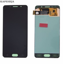 New Super AMOLED LCD Display For Samsung Galaxy A5 2016 A510 A510F A510M LCD Display Touch Screen Digitizer Assembly a510f display for samsung galaxy a5 2016 a5100 a510 a510f a510m sm a510f display touch screen digitizer assembly a510 lcd repair