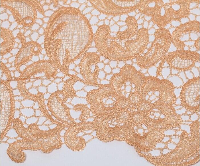 Embroidery organza cream 120 cm per meter