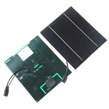 BUHESHUI Mono Solar Cell Module With 5521DC Cable Output  DIY Solar Panel System For 12V Battery Charger 6W 18V 200*170MM Epoxy