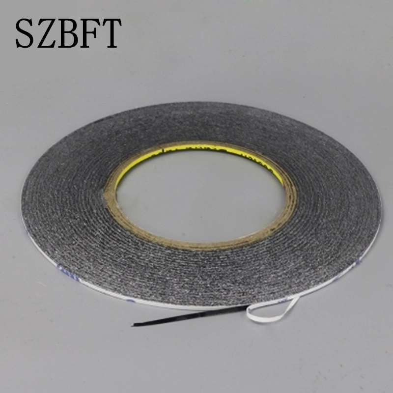 Купить с кэшбэком SZBFT 1MM Black Brand New 3M Sticker Double Side Adhesive Tape Fix For Cellphone Touch Screen LCD free shipping