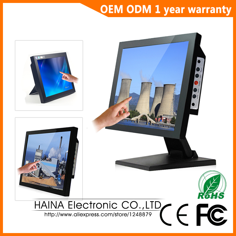 17 inch Touch Screen Monitor, Desktop Computer monitors, LCD Monitor Touchscreen for POS Terminal цена и фото