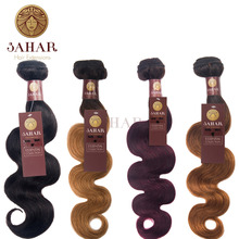 SAHAR 1 Piece Unprocessed Brazilian Body Wave Hair Weft 100% Remy Human Weave Free Shipping SHESW