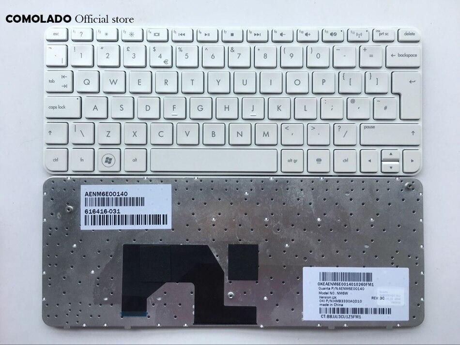 UK  Keyboard FOR HP Mini 210 220 Mini210 Mini210-1000 Mini 210-1000 White Keyboard UK Layout