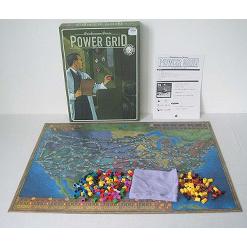 Power Grid  Board Game English Verison ,Basis+Expand Cards Game ,Germany + United States Map With English Instructions