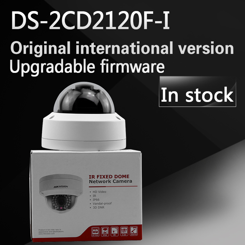 In stock Original  english version 2MP IR Fixed Dome Camera DS-2CD2120F-I free shipping in stock new arrival english version ds 2cd2142fwd iws 4mp wdr fixed dome with wifi network camera