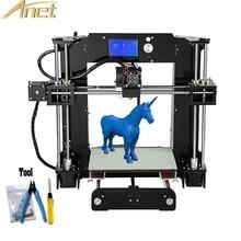Анет A6 3D принтеров Prusa i3 точность auto level A8 impresora 3D Принтер Бесплатная 0.5 кг/10 м нити комплект DIY 16 ГБ SD карты ЖК-дисплей экран