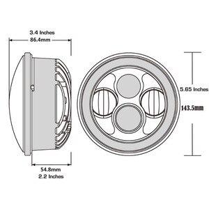 """Image 4 - 5.75 """"ハーレーのオートバイアクセサリー 4Dラウンドプロジェクターレンズledヘッドライト 10v 30v 40 ワット用リアブレーキパッドスポーツスターxl 883/xl"""