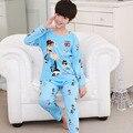 Nova Listagem de Outono Miúdos Dos Desenhos Animados Pijamas & Roupa de Dormir Pijamas Meninos Pijamas Pijama Bonito Crianças Roupas Definir Meninas Pijamas Definir shipp livre