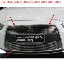 Для Mitsubishi Outlander 2009 2010 2011 2012 Высокое качество Алюминиевый сплав Передняя решетка Вокруг отделки гоночные грили автостайлинг