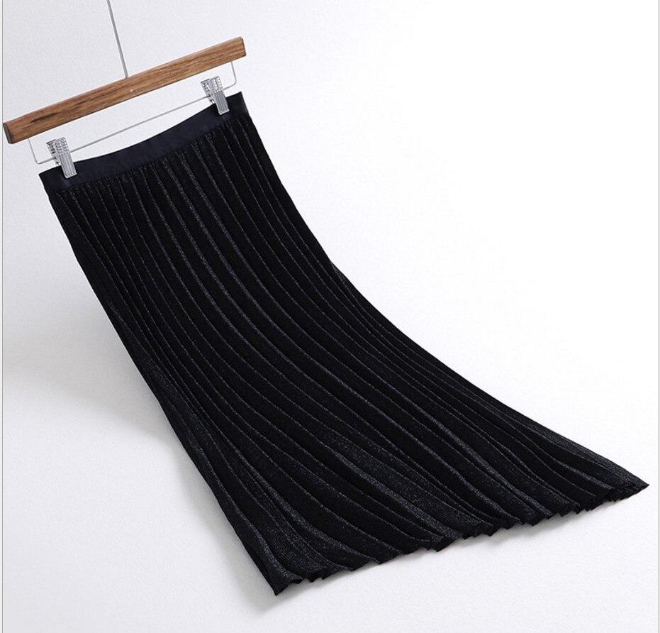 Mujeres Negro Beige khaki Invierno Asimétrica Para black gris De Beige Plisada Gris Las Otoño Cintura Punto Gtgyff Alta Estiramiento Faldas Caqui giltter Falda azul Azul 4wnZx756qR