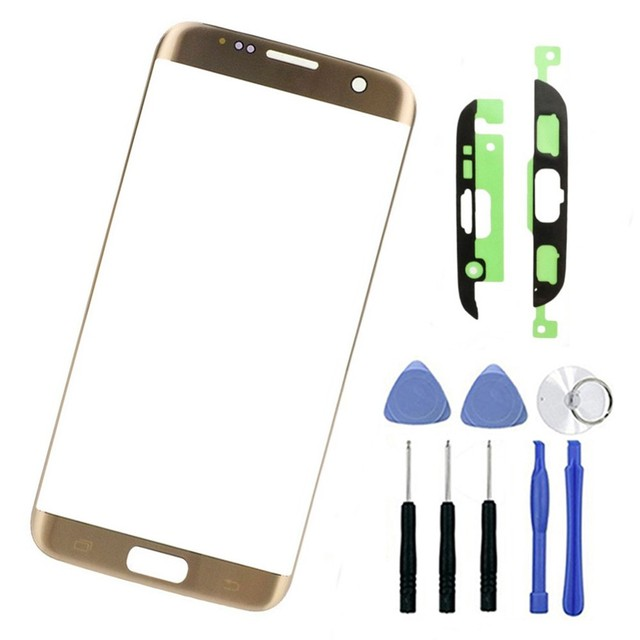 White Blue Gold LCD Screen Front Glass Lens Replacement For Samsung S7 Edge G935 SM-G935F+Tools+Sticker Touch Panel Outer Glass