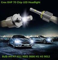 Lot Ampoules 55W/110W H7 Universal Car Vehicle XHP70 Chip LED Headlights H4 H1 H11 9005 Light Head Lamps Bulb ANTI ERREUR 6000K
