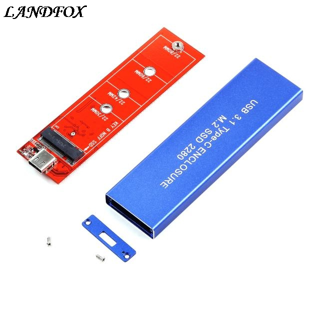USB 3.1 Type-C to NGFF M.2 SSD 2280 Storage Case Adapter Card Enclosure